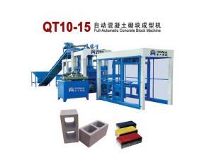 HG  QT10-15 Automatic Block Making Machine, Simple Production Line with Color Pigment