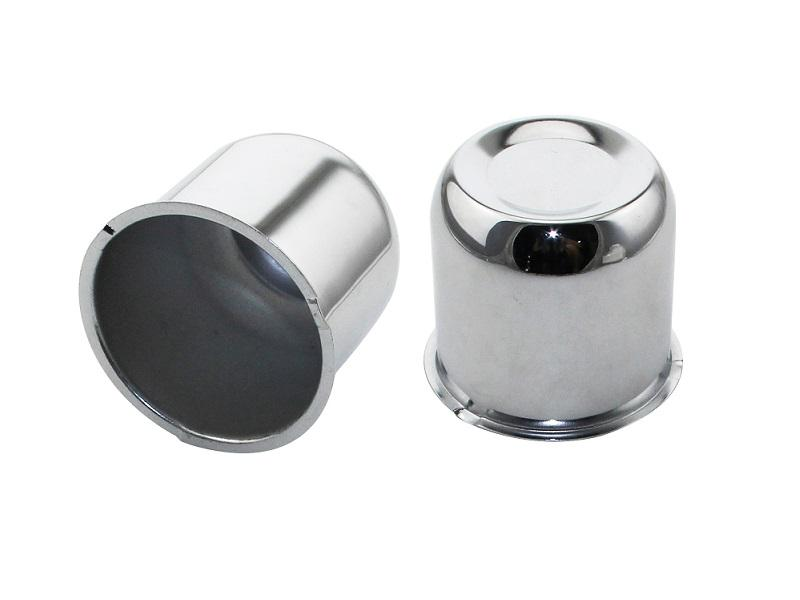 Chrome Plated Closed End Trailer Wheel Center Cap