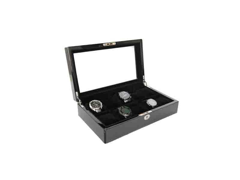 Collection Classical Black Watch Case Storage Display Box