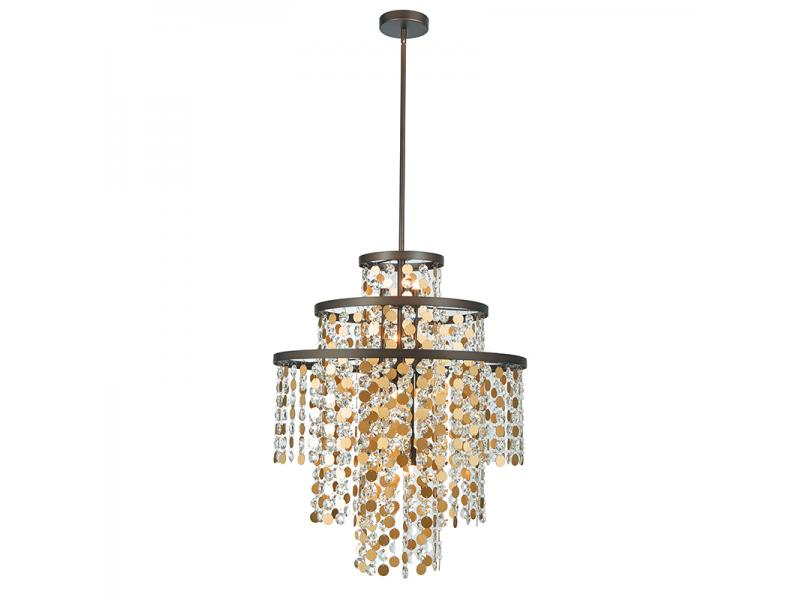 12 LIGHT G9 MODERN LUXURIOUS CRYSTAL PENDSNT LAMP NC3238P-12BR
