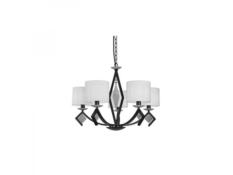 3 Light Clear E14 Shade Chandelier NC1242P-5