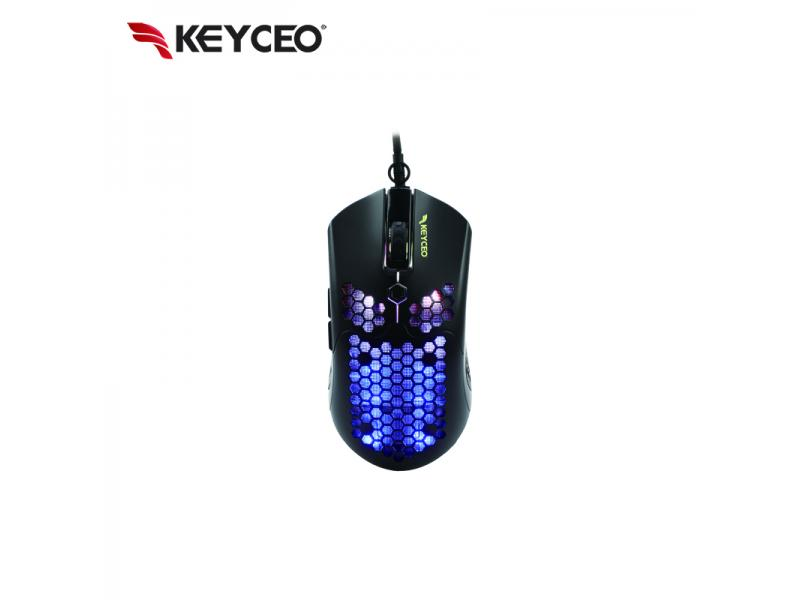 Honeycomb Shell Optical RGB Backlit LED Gaming Mouse