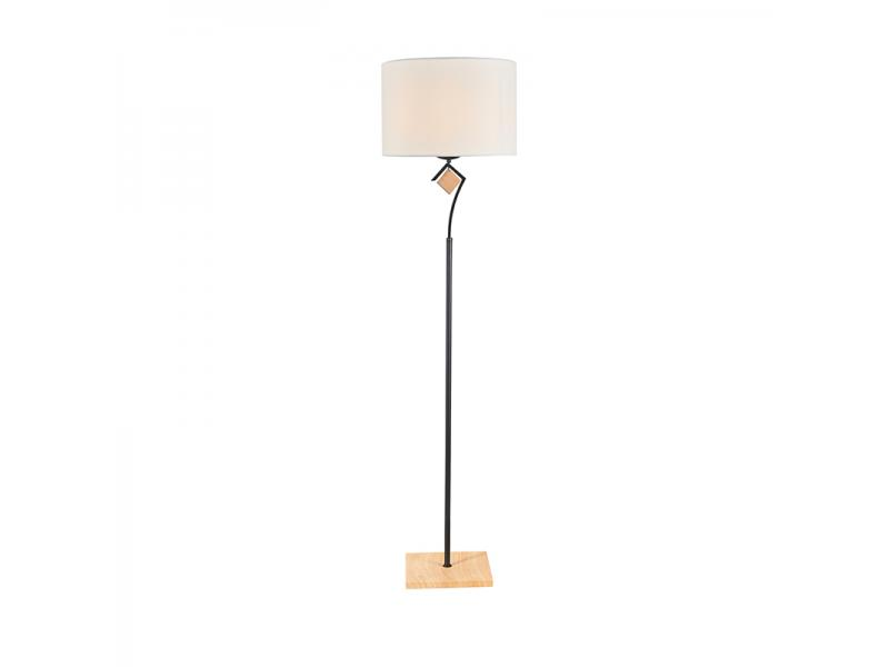 1 Light Clear E27 Shade Floor Lamp NC1242T-1
