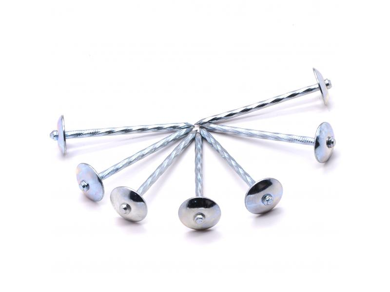 Factory Galvanized Umbrella Head Roofing Nail, Twisted and Screw Shank