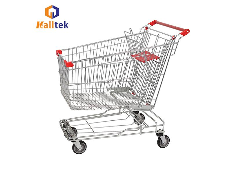 Retail Store Asian Style Metal Supermarkt Shopping Trolley