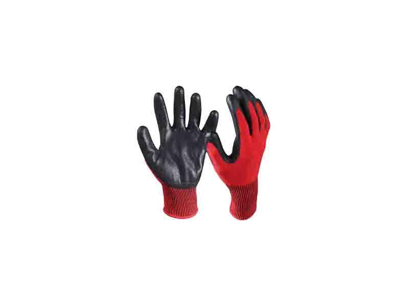 Nitrile Coated Cut Resistant Safety Work Gloves/CRG-004-R