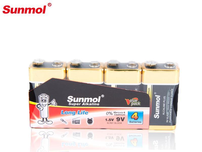 Sunmol   6lr61 Batterie 9 Volt OEM Brand Alkaline 9V Battery