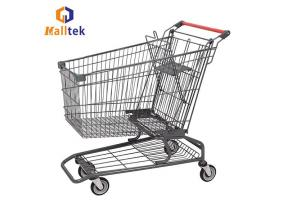 American Style Metal Supermarket Shopping Carts Trolley with Kid Seat