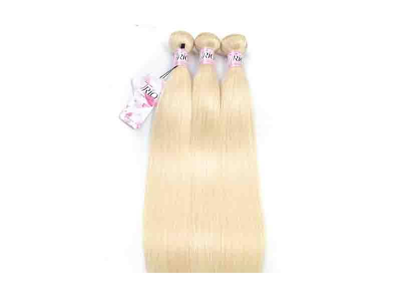 613 Blonde Virgin Human Hair/613 Cuticle Aligned Hair Bundles with Frontal/Blonde Virgin Human Hair
