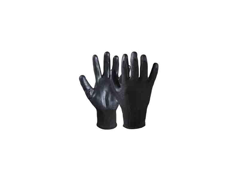 Nitrile Coated Cut Resistant Safety Work Dipped Palm Gloves/CRG-004-B