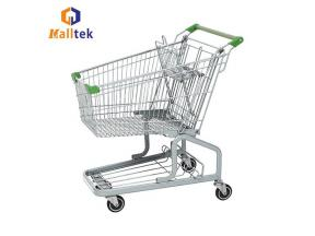 Steel Grocery Mall German Style Trolley with Seat Wheels Supermarket Metal Shopping Cart