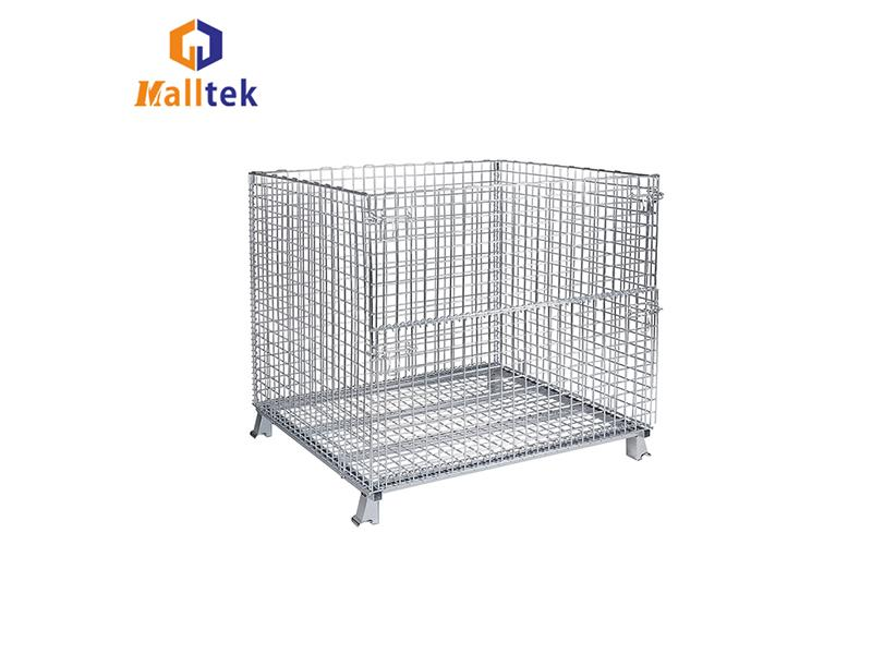 Steel Mesh Small Containers with Lid Security Mesh Box Wire Cage Metal Bin Storage Container