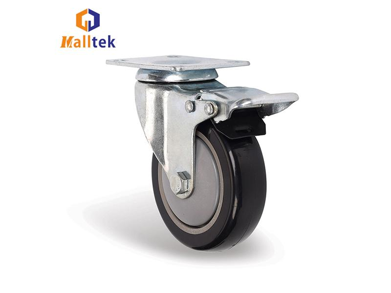 Long Way 4 5 Inch Double Ball Bearing TPR Shopping Trolley Caster Wheels
