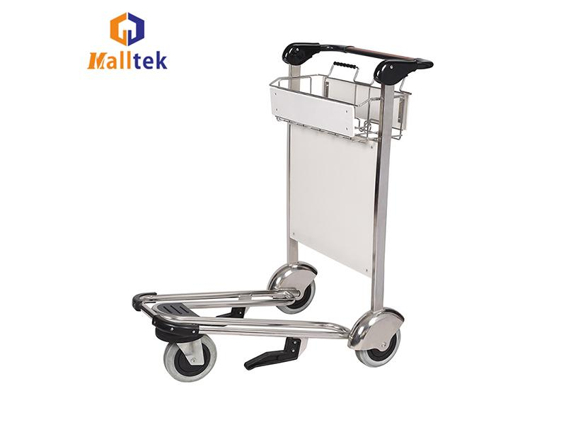 Heavy Duty Stainless Steel Airport Luggage Baggage Cart with Hand Brake