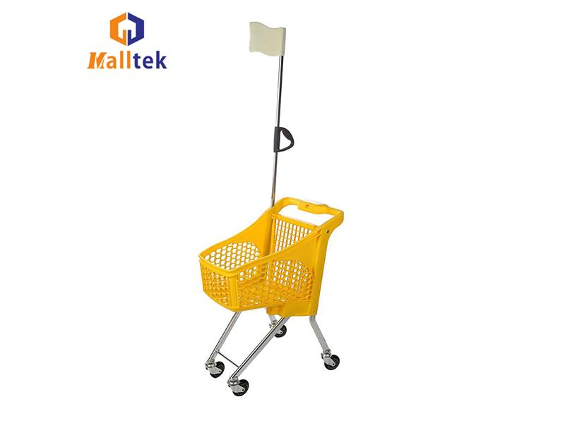Wholesale Supermarket Grocery Equipment Mini Children Kids Toy Shopping Trolley Cart