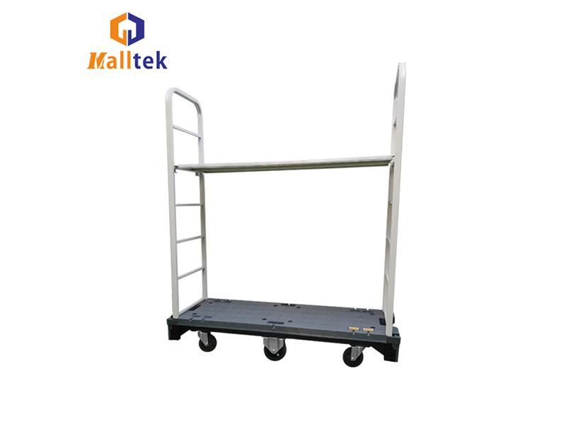 Metal Warehouse Storage Cart U Boat Style Six Wheel Balance Trolley