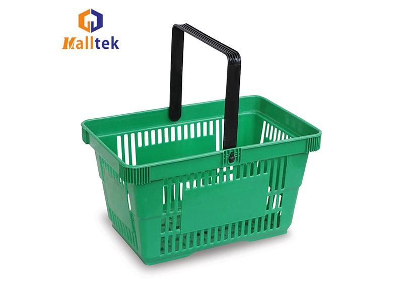 Eco - Friendly Supermarket Shopping Basket Plastic Grocery Hand Baskets