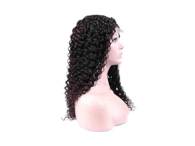 Trio 100 Percent Human Hair Wigs Deep Wave Brazilian Full Lace Curly Hair Wigs