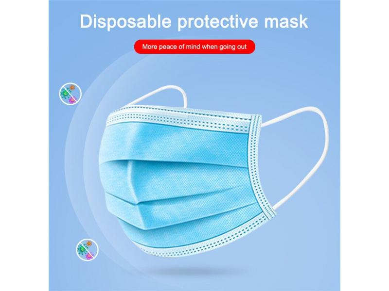 CE Approved Safety 3ply Earloop Melt-blown Antiviral Medical Disposable Mask