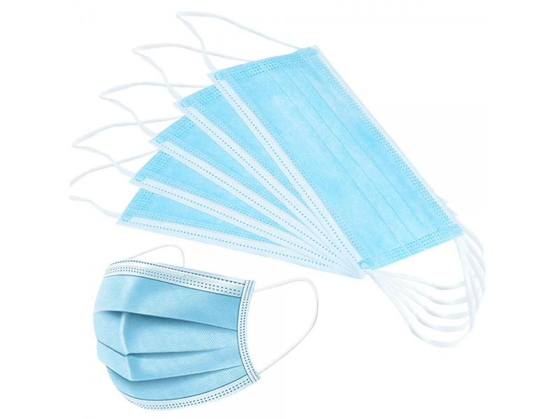 3 Ply White Nonwoven Disposable Face Mask