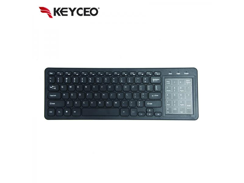 OEM Bluetooth Ergonomic Full Size Tablet Keyboard with Multi-touchpad with Numeric Touchpad