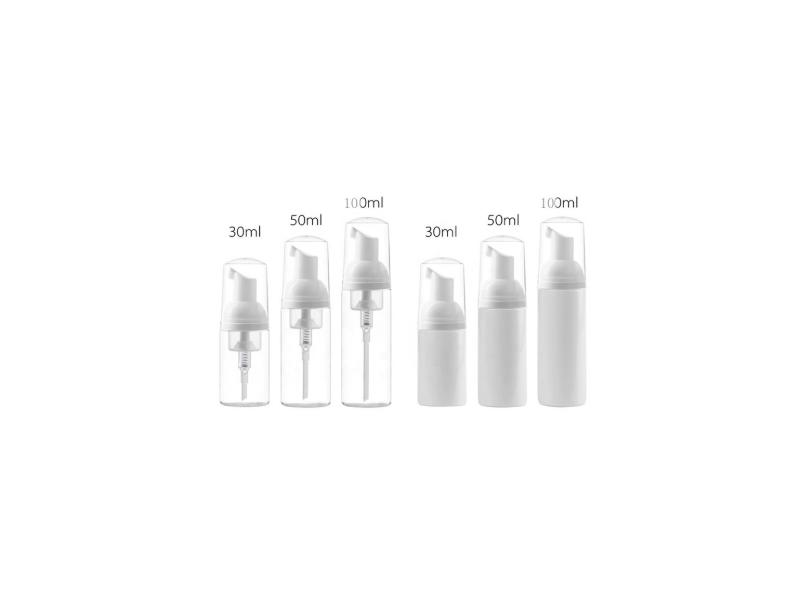 30ml 50ml 100ml PET Cylinder Cosmetic Foam Brush Pump Bottles