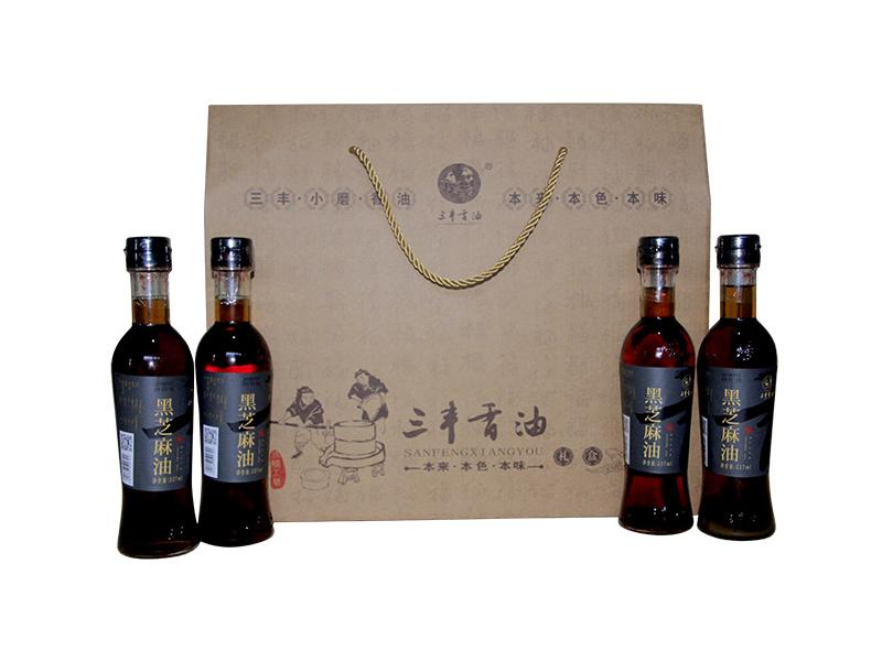 Sanfeng Sesame Oil Sauce Gift Package  3  (Black Sesame Product)