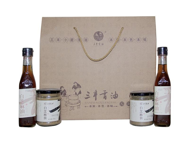 Sanfeng Sesame Oil Sauce Gift Package(White Sesame Product)
