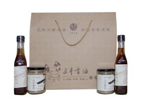Sanfeng Sesame Oil Sauce Gift Package 2(White Sesame Product)