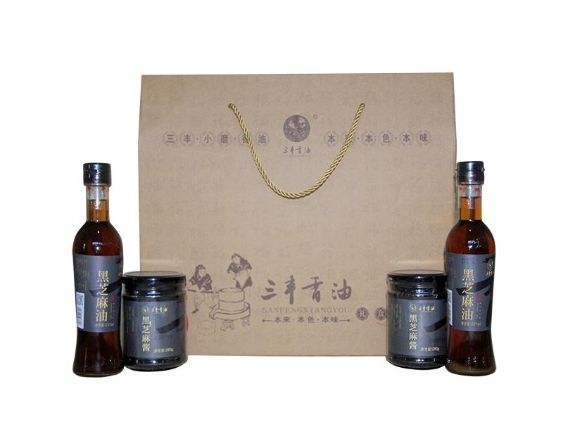 Sanfeng Sesame Oil Sauce Gift Package  2  (Black Sesame Product)