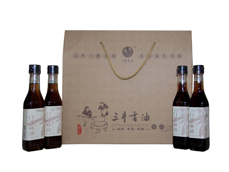 Sanfeng Sesame Oil Sauce Gift Package 3  (White Sesame Product)