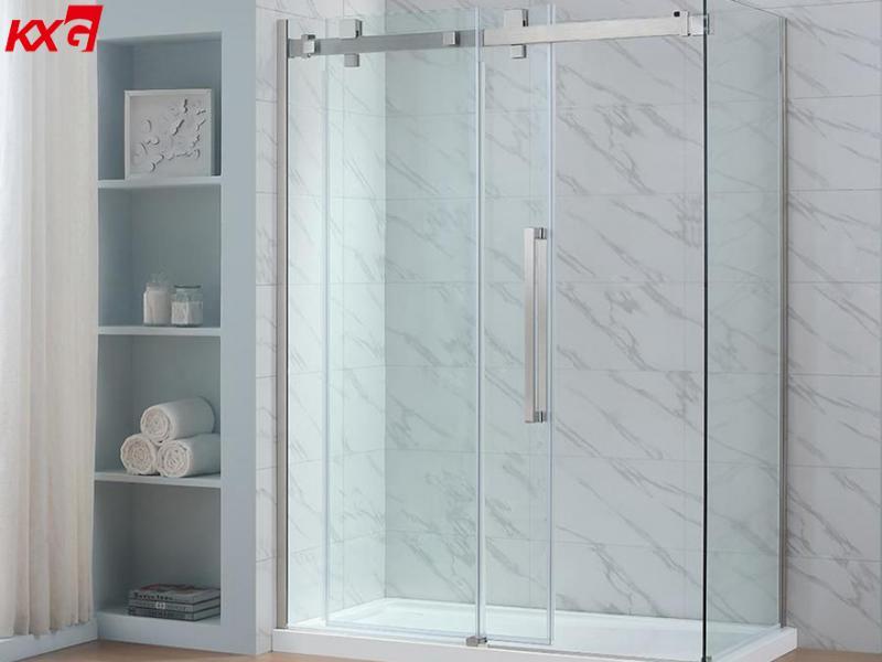 10mm Ultra Clear Tempered Glass Door Low Iron Toughened Glass Shower Door