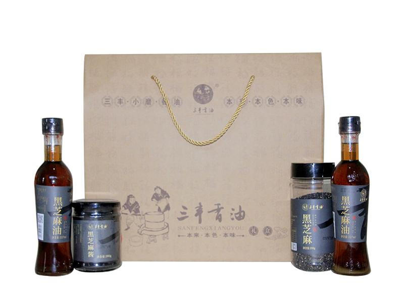Sanfeng Sesame Oil Sauce Gift Package(Black Sesame Product)
