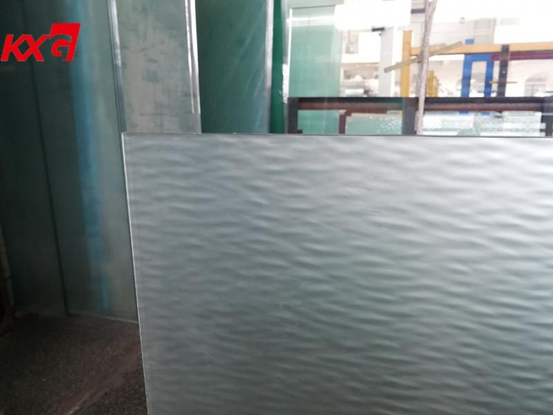 Decoration Laminated Glass 3+3mm Frosted Pattern Laminated Glass