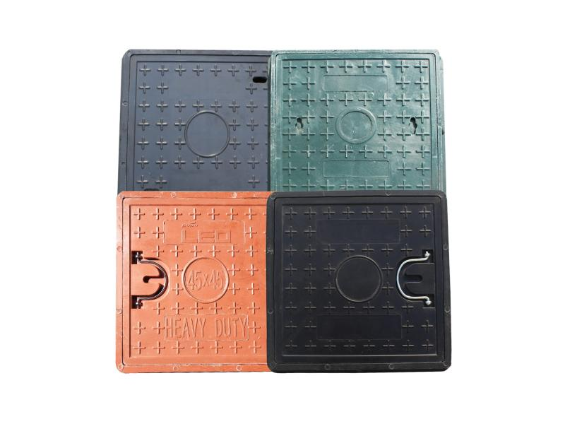 Composite Resin BMC/SMC/FRP Square and Round Light Manhole Cover