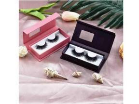 3D Faux Mink Silk Eyelashes Private Label Custom Eyelash Packaging Logo Wholesale Strips Eyelashes