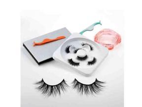 Cheap Custom Eyelashes Natural Look False 6d Wispy Mink Fur Fluffy Eyelashes False Eyelash Empty Box