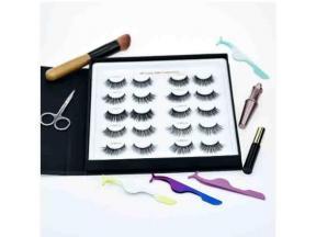 Full Strip Mink False Lashes Eyelash Books Packaging Private Label Eyelash Storage Book Case