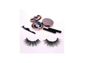 Wholesale Magnetic Eyelashes and Eyeliner with Tweezers Magnetic Mink Eyelashes Private Label Lashes