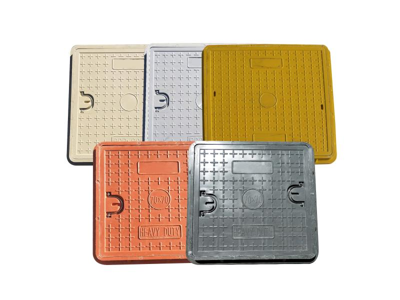 Hot Sale Composite Resin BMC/SMC/FRP Square and Round Manhole Cover for Gully