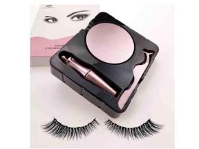 5d Faux Mink Magnetic Eyelashes Custom Packaging Magnetic Eyelashes with Tweezers Silk Lashes Case