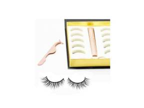 Magnetic Eyelashes with Eyeliner with Tweezers Packaging Box Mink Eyelash Vendor with 6 Magnets Whol