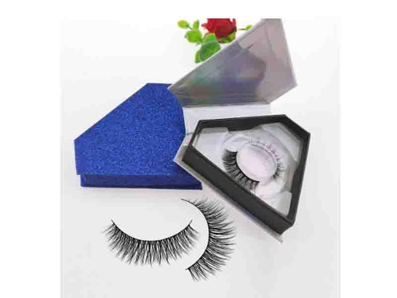Private Label 3D Korean Faux Mink Eyelashes Custom Logo Packaging Silk Eyelash