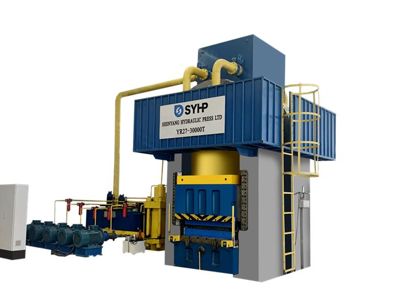 Large Capacity Hydraulic Press for Heat Exchanger