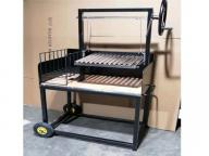 Trolley Cart Stainless Frame Wood Santa Maria Garden Charcoal BBQ Grill for Sale