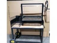 Power Coating Stainless Steel Charcoal Basket Brick Lined BBQ Grill with Side Brasero Pit Argentine