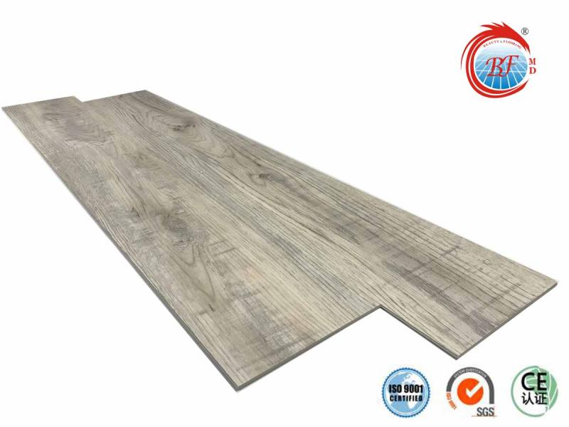 Plywood Wood Grain Wear-Resistant PVC Spc WPC Vinyl Click Flooring 3
