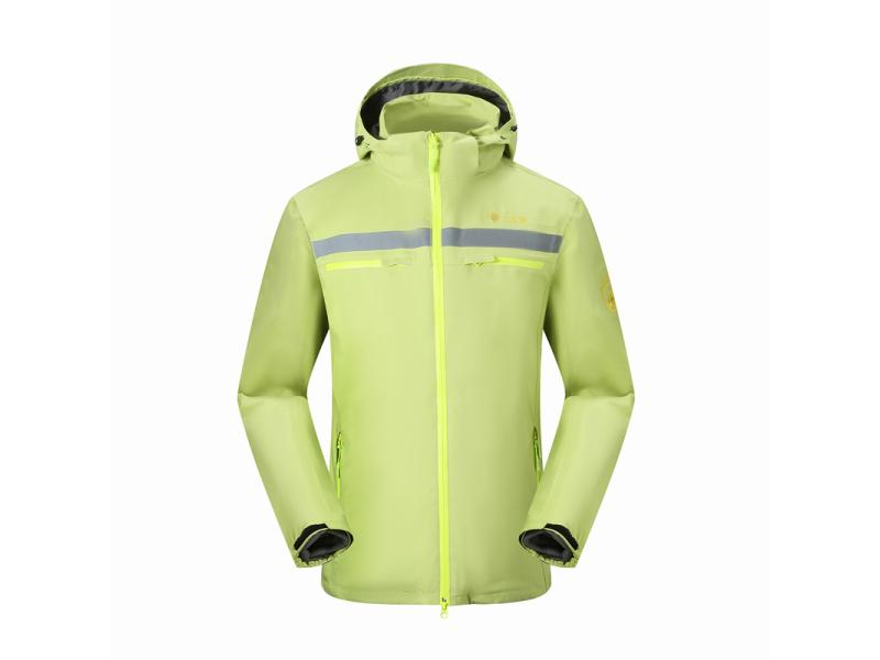 Wholesale High Quality Waterproof Breathable Windbreaker Men's Outdoor 2 in 1 Hooded Jacket