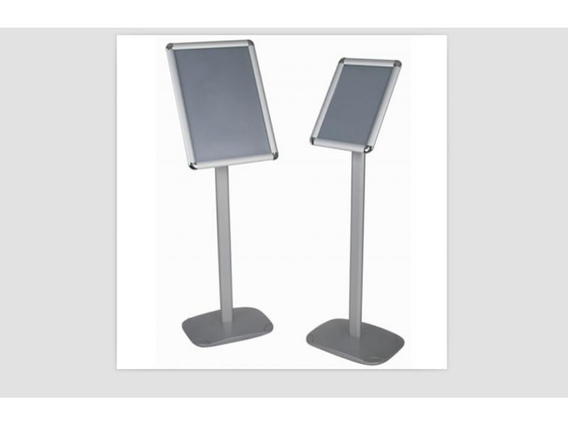 Public Notice Stand Stable Display Menu Poster Stand with Clip Frame