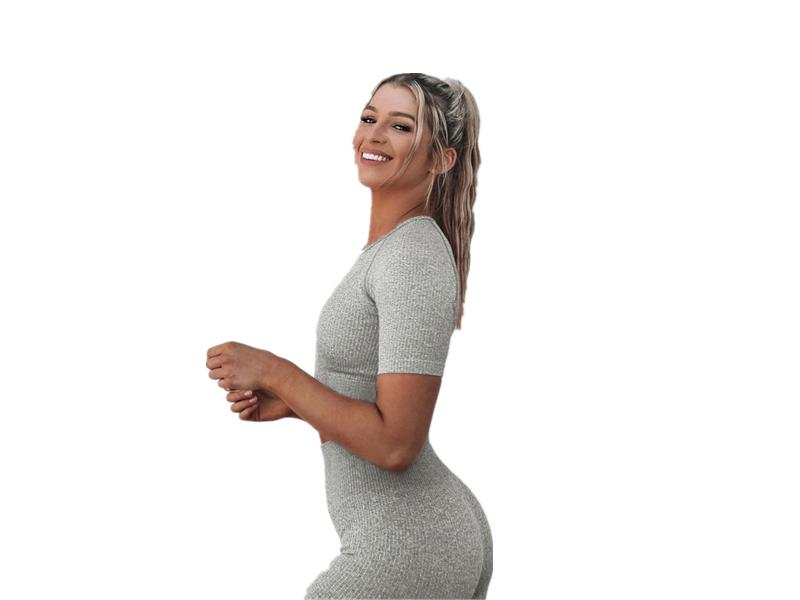 Yolife New 2020 Summer Women 2Piece Set Sports Crop Top and Short Leggings Gym Seamless Biker Shorts